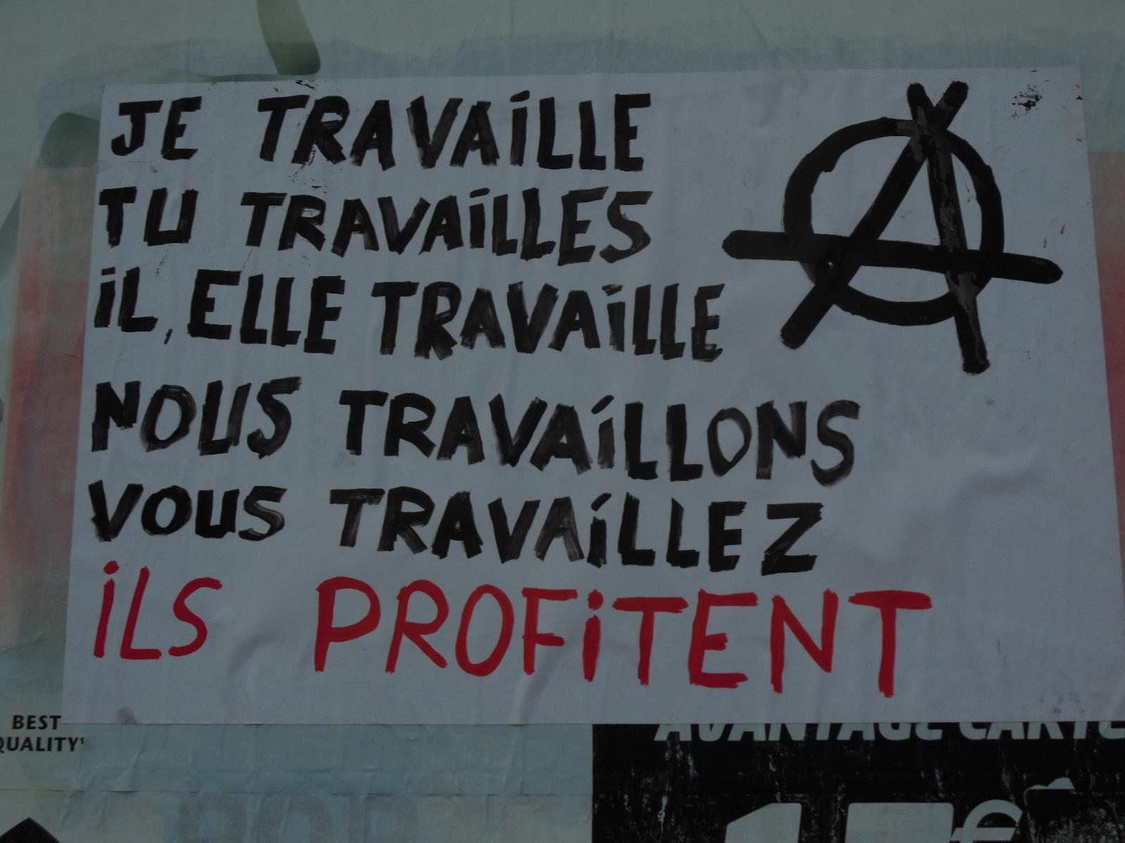 Gut gemocht Besançon] Quelques slogans contre le travail, la répression et  PX62