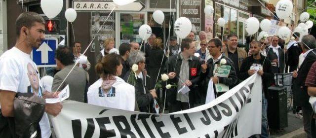 Argenteuil (Val d'Oise), le 10 juin 2012. Le collectif justice et verite avait organisé, comme chaque année, une manifestation en mémoire d'Ali Ziri, trois ans jour pour jour apres l'arrestation qui avait conduit à sa mort.  | LP / Sarah Nafti