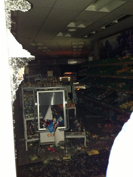 Un magasin Coop a été pillé