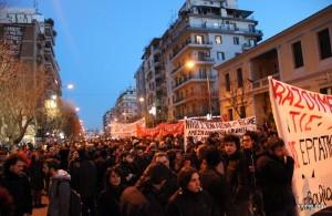 solidarios en manifestacion tesalonica