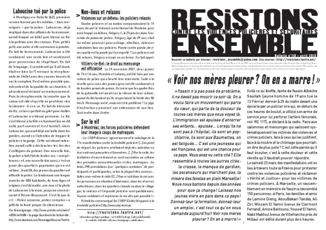 Télécharger le no118 de Résistons Ensemble au format PDF